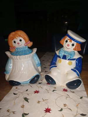 NICE !! RARE !! Poppytrail Raggedy Ann & Andy Cookie Jars for Sale in Novelty, OH