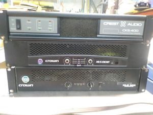 CREST AUDIO..CROWN AMPLIFIERS for Sale in Chicago, IL