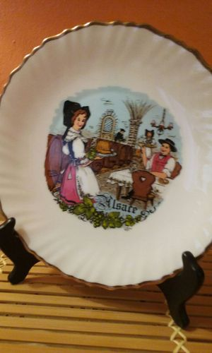 Antique French Milk Glass Plate for Sale in San Bruno, CA
