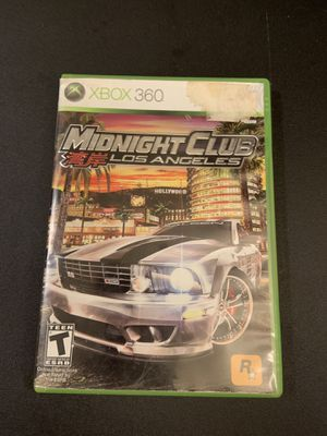Midnight Club Los Angeles game for Xbox 360 for Sale in Oakland, CA
