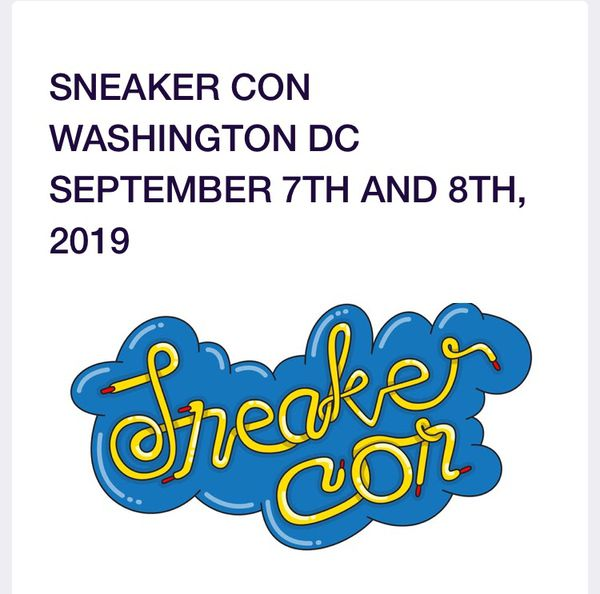 Sneaker Con DC Ticket sale