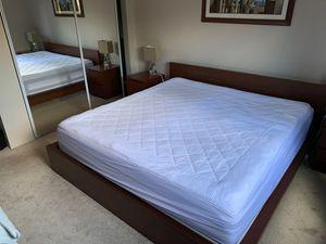 4 piece King Size Bedroom Set(IKEA) and Beauty Rest Mattress for Sale in Auburn, WA