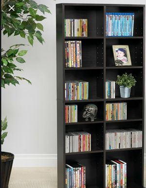 "New!! Bookcase, bookshelves, organizer, storage unit, 54""x25"" adjustable shelves media storage wall bookcase, living room furniture, espresso for Sale in Phoenix, AZ"