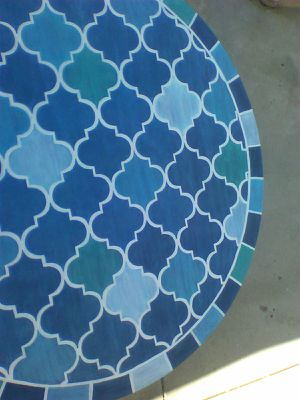 Hand Painted Faux Tile Table for Sale in Newhall, CA