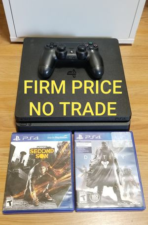 PS4 SLIM 1TB BUNDLE, FIRM PRICE, GOOD CONDITION, READ DESCRIPTION FOR OPTIONS for Sale in Garden Grove, CA