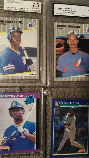 KEN GRIFFEY JR BASEBALL CARDS AND RANDY JOHNSON for Sale in Lexington, SC
