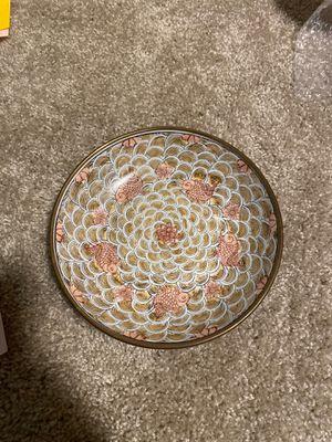 Vintage Japanese porcelain ware brass encase bowl for Sale in Bradenton, FL