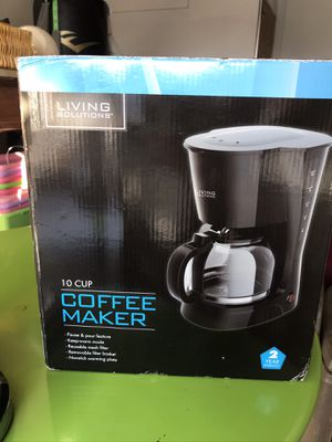 Living solutions coffee maker for Sale in Las Vegas, NV