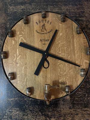 Wine barrel clock for Sale in Lodi, CA