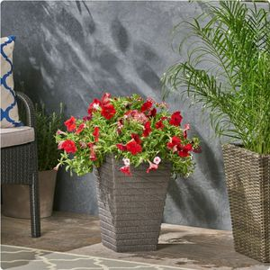 Gray Outdoor Concrete Garden Planter, Flower Pot for Sale in Corona, CA