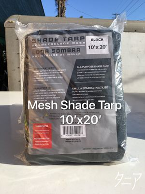 Black Mesh Shade Tarp 10'x20' for Sale in Los Angeles, CA