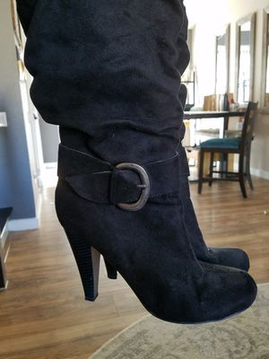 Black suede boots 8.5 for Sale in Haltom City, TX