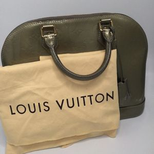100% Louis Vuitton Vert Olive Monogram Vernis Alma GM Bag for Sale in Norco, CA