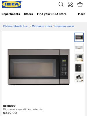 Betrodd Microwave Oven With Extractor Fan for Sale in Baltimore, MD