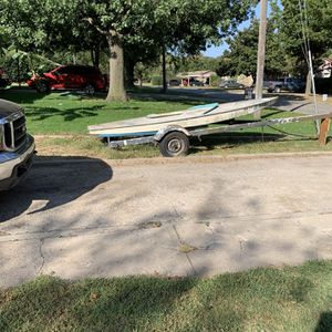 5' 18' ft. Tilt Trailer ...take Sailboat If You Want for Sale in Oklahoma City, OK