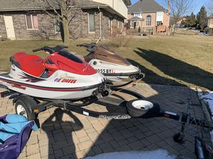 Jet skis with double trailer for Sale in Lemont, IL