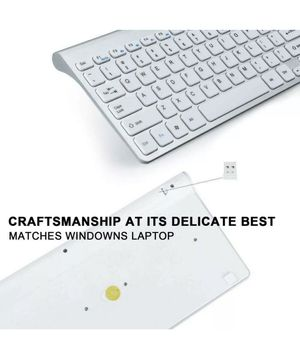 GEEKLIN Wireless Keyboards and Mouse Combo,2.4G Portable Slim white for Sale in Calexico, CA