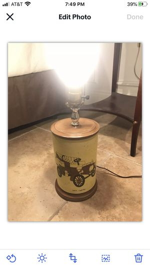 Vtg 1902 60 70 Holland Mold Ceramic Cadillac Car Light TV Lamp Nightlight Works for Sale in Nashville, TN