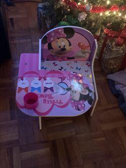 Disney Minnie Toddler Desk With Storage for Sale in Philadelphia,  PA
