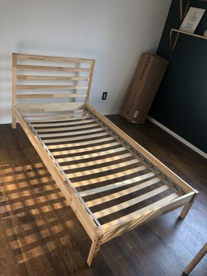 IKEA Twin Wood Bed with Slats for Sale in Menifee, CA