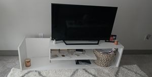 White tv stand for Sale in Morrisville, NC