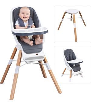 Baby High Chair,3-in-1 High Chair,Baby Wooden High Chair with Removable Tray,High Chair for Infants to Toddler, Adjustable Feeding Chairs for Babies/ for Sale in Fairfax Station, VA