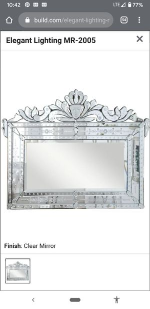 Venetian wall Mirror Etched Design for Sale in Los Angeles, CA