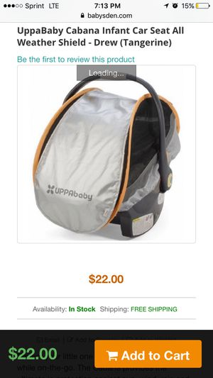 BLUE UppaBaby car seat cover for Sale in Dallas, TX