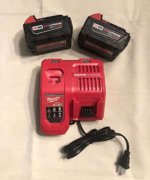 Milwaukee RAPID CHARGER and 5.0 batteries all new for Sale in Miami, FL