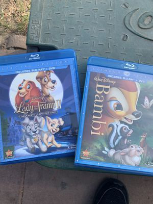 Bambi or lady and the tramp 2 Blu-ray 15.00 each for Sale in Anaheim, CA