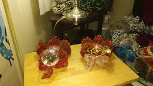 Hand made pine cone candleholders for Sale in Albuquerque, NM
