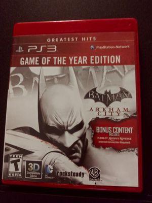 Batman Arkham City GOTY ps3 for Sale in Stockton, CA