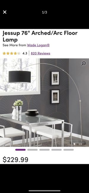 Arched floor lamp for Sale in Brentwood, MD