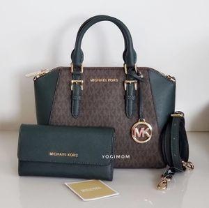 BUNDLE OF AUTHENTIC 2PC SET MICHAEL KORS MEDIUM CIARA SATCHEL CROSSBODY SATCHEL messenger wallet purse shoulder bag for Sale in Plymouth, MI