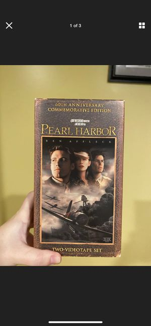 Pearl Harbor (VHS, 2001, 2-Tape Set, Pan Scan 60th Anniversary Commemorative... for Sale in Port Jefferson Station, NY