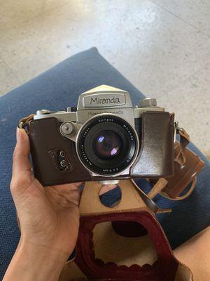 Vintage Rare Miranda A 35mm SLR Film Camera With Soligor Miranda 50mm for Sale in Houston, TX