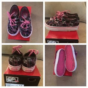 VANS Black Hello Kitty Size 7 for Sale in Greenbelt, MD