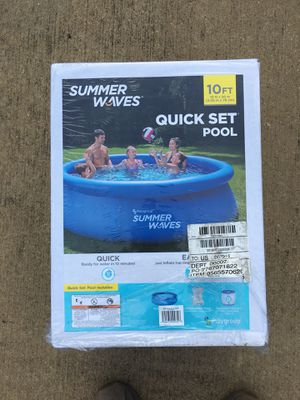 "Brand New Summer Waves Quick set pool 10'x30"" for Sale in Dallas, TX"