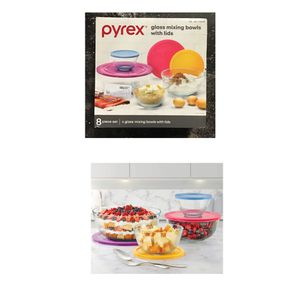 Pyrex 8-piece Glass Sculpted Mixing Bowls for Sale in Missouri City, TX