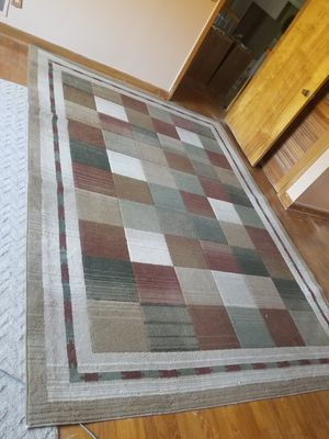 10.5x7.5 large area rug sage, marron, beige for Sale in West Columbia, SC