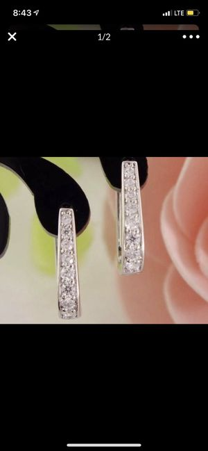 925 Sterling Silver Earrings, Engagement/Wedding/ Birthday for Sale in Los Angeles, CA
