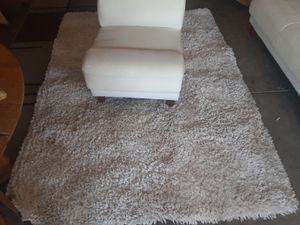 White leather sectional couches with white carpet for Sale in Phoenix, AZ