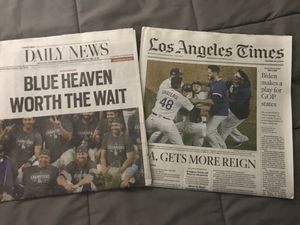 World Series Dodgers Newspaper for Sale in Los Angeles, CA