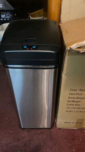 Stainless Steel 12 Gallon Trash Can for Sale in Sunnyvale, CA
