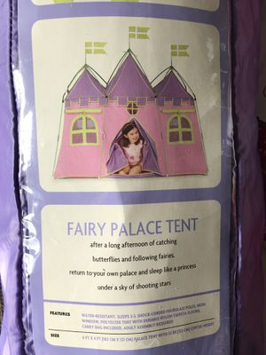 Fairy palace tent camping for Sale in Seattle, WA