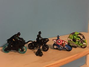 Imaginext playskool heroes figure and vehicle lot for Sale in Bristol, PA