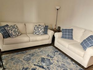 Two piece designer couch set. Barely used. Looks brand new! Almost a year old for Sale in Arlington, VA
