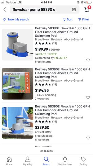 Flowclear Pool Pump 58390e 1500 gph for Sale in Harwood Heights, IL
