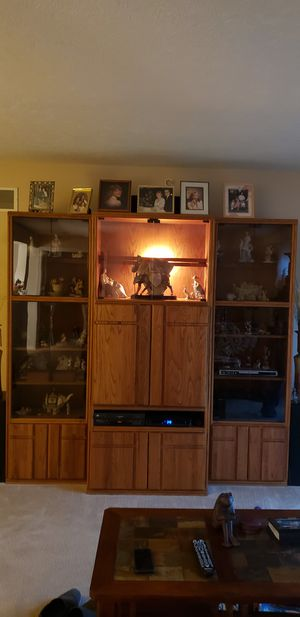 Solid oak entertainment center for Sale in Harrison, OH