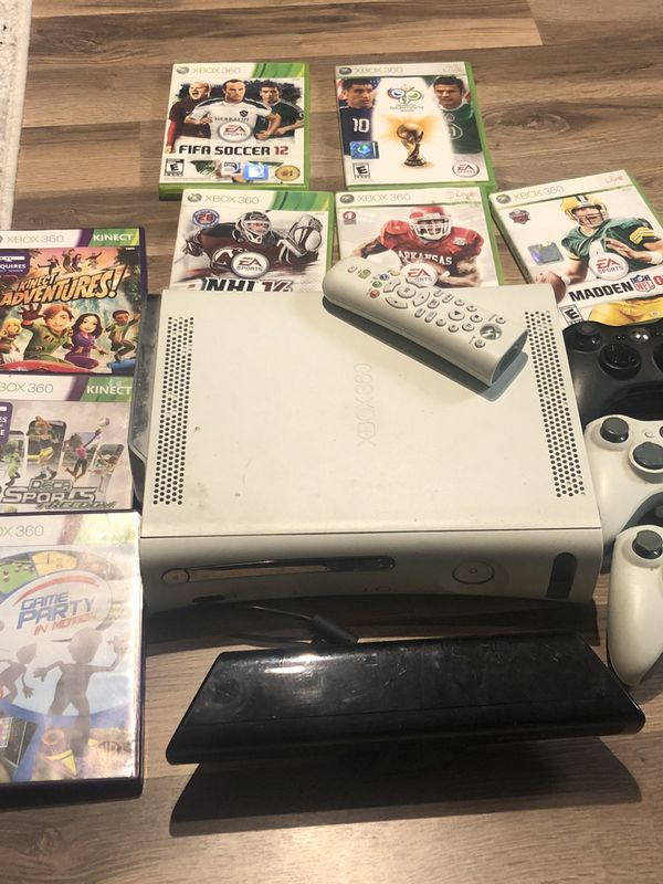 XBOX 360 gaming console and accessories